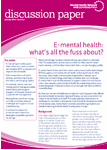 NHS Confederation discussion paper on digital technology in mental health services