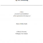 Conceptualisation and Measurement of Iwi Wellbeing : A Thesis