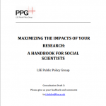 Maximising the Impacts of your Research: A Handbook for Social Scientists