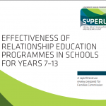 Effectiveness of Relationship Education Programmes in Schools for Years 7-13