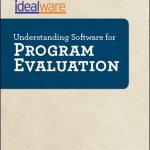 Cover from Program Evaluation software report, by Idealware