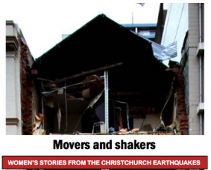 Movers and Shakers: Women's Stories from the Christchurch Earthquakes (Final Version), report cover